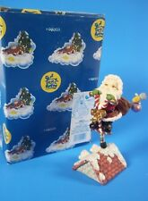 Enesco Santa On Pogo Stick Figurine # 180777 1996