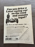 "VINTAGE 1960s ""LOTUS CARS SALES LTD"" ORIGINAL ADVERT"