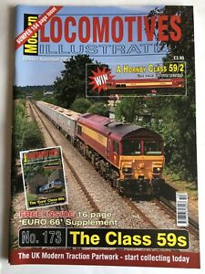 Modern Locomotives Illustrated N0.173 The Class 59s + Euro 66s free post