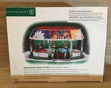 Dept 56 Department Village Animated Bumper Fun Ride Cars Amusement Park Set Mini