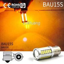 2X 1156 BAU15S PY21W LED Daytime Running Light Amber Orange Yellow Bulb 33SMD