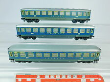 AU780-1# 3x Trix Express H0/DC Tin Cars Touropa 17 645 Hmb