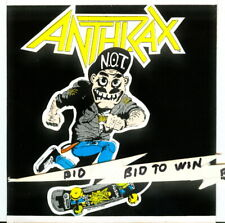 Anthrax Not Skateboard Full Color Sticker Very Cool
