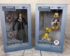Set of 2 Disney Kingdom Hearts Game Action Figures - MICKEY With Pluto AXEL New