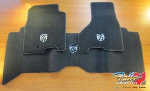 2009-2012 Dodge Ram 1500 2500 3500 Crew Cab Premium Carpet Floor Mats Mopar OEM