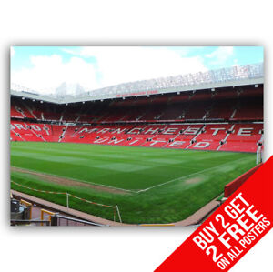 OLD TRAFFORD MANCHESTER UNITED POSTER BB9 A4 / A3 SIZE - BUY 2 GET ANY 2 FREE