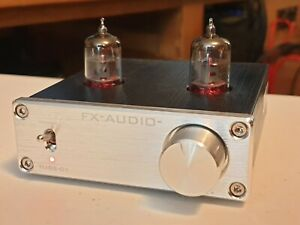 FX-AUDIO TUBE-01 Pre Amp Amplifier Buffer WITH included Mullard m8100 tubes