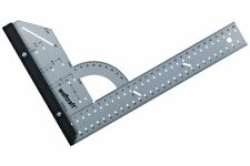 """Wolfcraft 300mm (12"""") Flat Steel Angle Square Protractor Measure Rule, 5205"""