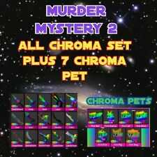 ROBLOX MM2 ALL CHROMA SET - ALL CHROMA WEAPONS  AND PETS GET 22 ITEMS
