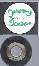 CD--JEREMY JORDAN --WANNA GIRL --PROMO
