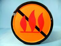 RARE VINTAGE PORCELAIN ENAMEL FIRE NOT ALLOWED SAFETY METAL SIGN ca.1960'S