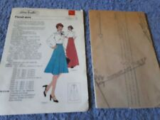 Vintage 1970s Silver Needles sewing pattern No: 16 Flared skirt uncut