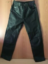 Pantalon En Cuir Biker Pants Size 32 Cuir Épais Et Lourd Thick And Heavy Leather