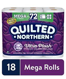Quilted Northern Ultra Plush Toilet Paper, 18 Mega Rolls (= 72 Regular Rolls)