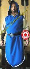 Medieval Celtic Viking Wizard Hooded Surcoat Sorcerer