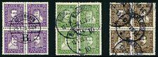 Denmark 1924 Post Office 300 Year Scott 167a, 171a & 175a Used Cv$150 0A