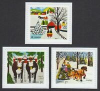 NEW = CHRISTMAS ART = set of 3 cut from booklet = diff FV Canada 2020 MNH OBP