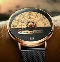 DOM Herren Armbanduhr Analog Quarz Chronograph Uhr wasserdicht R0O4