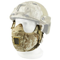 Tactical Protective CS Military Game Paintball Half Face Mask Steel Netting