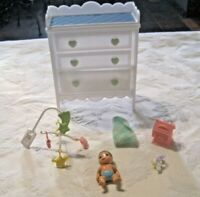 Barbie Play All Day Nursery Lot ~ Dresser, Baby & Accessories