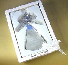 "< NIB Angelic Reflections GOOD FRIEND ORNAMENT 5"" High Silver-toned Metal Glass"