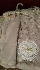 Blankets & Beyond Rocking horse Minky  Gray Baby Plush Blanket