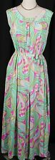 Vtg 70's Mod Paisley Psychedelic Maxi Jumpsuit Polyester Dress True Vintage