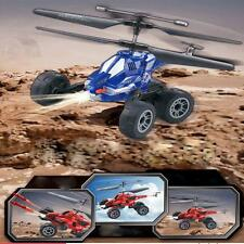 3in1 RC Toy Car&Helicopter Chariot 3.5CH Flying fired missiles Remote Control BL