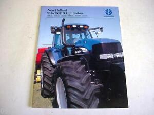 New Holland 95 to 160 HP Series Tractors Color Brochure 28 Pages              b1
