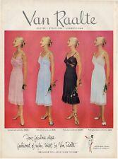 1951 Van Raalte  PRINT AD Great ad Women's Slips Underthings Artwork Decor