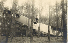 Carte Photo. Accident d'avion militaire Breguet du 12° R.A.B. 1°Guerre Mondiale