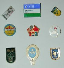 Russian Vintage Tennis Pin Badge Collection - 9 Lapel Pins - Presidents Cup Pin