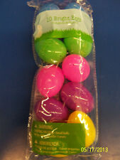 Fillable Plastic Eggs Egg Hunt Easter Holiday Party Decoration Favors - Bright