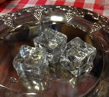 Realistic Artificial Faux Fake Food Replica Acrylic ICE Cubes Display Stage PROP