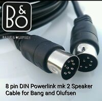 FULLY WIRED MK2 Powerlink 8 pin din  Speaker Cable FITS Bang Olufsen BEOLAB 1M
