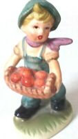 "Ceramic Figurine ""Boy Picking Apples"" Collectible Napcoware JAPAN C-8812 Vintage"