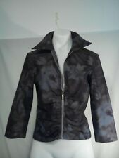 Harry Who Ladies Jacket in a Brown and Silver Grey Abstract Pattern Size 8