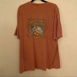 Amphibious Outfitters Pinup Adventure Sports Shirt Orange Graphic Casual