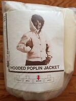 New! Vintage 1981 FROSTLINE KIT (Denver, Colorado) Hooded POPLIN JACKET sz M