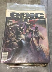 EPIC ILLUSTRATED comics NEAR COMPLETE lot 30 books 1980-1985  #1 great shape!