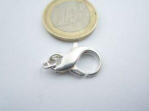 particolare moschettone in argento 925 forma dell'infinito misure 20x10 mm an.in