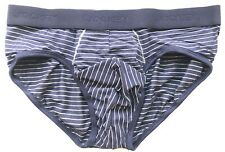 Jockey Mens Modal Brief - Navy Stripe - Small - 151413-499