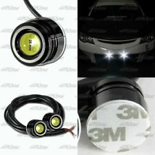 1x Pair White LED DRL 25mm x 20mm 12V 3W Eagle Eye Daytime Running Light Lamps