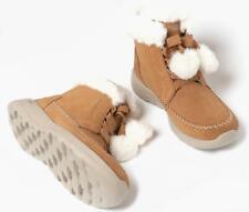 Skechers ON-THE-GO JOY HIBERNATE Ladies Womens Winter Suede Ankle Boots Chestnut