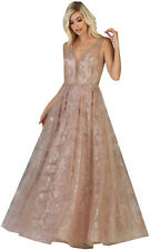SALE! FORMAL EMBELLISHED EVENING GOWNS SPECIAL OCCASION A-LINE PROM LONG DRESSES