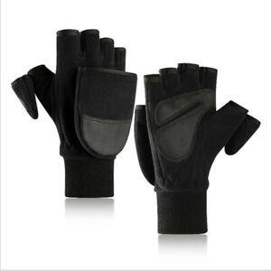 Winter Warm Flip Top Gloves Fingerless Convertible Cycling Photography Me  MJ