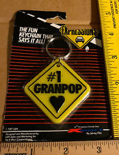 #1 Granpop Love Keychain Grand Father Grand Pop Grand Dad