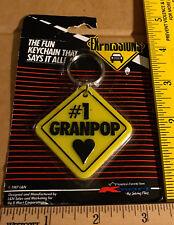 #1 Granpop Love Keychain Grand Father Grand Pop Grand Dad