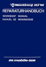 IFA Wartburg 353 W 🔧 Reparaturanleitung, Werkstatthandbuch, DDR, 214 Seiten