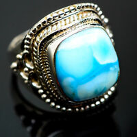 Larimar 925 Sterling Silver Ring Size 8 Ana Co Jewelry R1112F